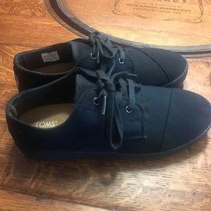 Black Toms sneakers